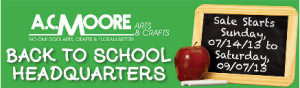 AC Moore coupon - back to school discounts